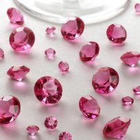 Hot Pink Table Crystals (100g)